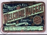 Welcome Nugget Flake Cut Tobacco Tin 1oz