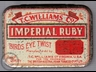 Imperial Ruby Bird Eye Twist Tobacco Tin 2oz
