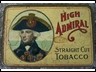 High Admiral Straight Cut 2oz Tobacco Tin