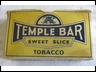 Temple Bar Cardboard Tobacco Packet