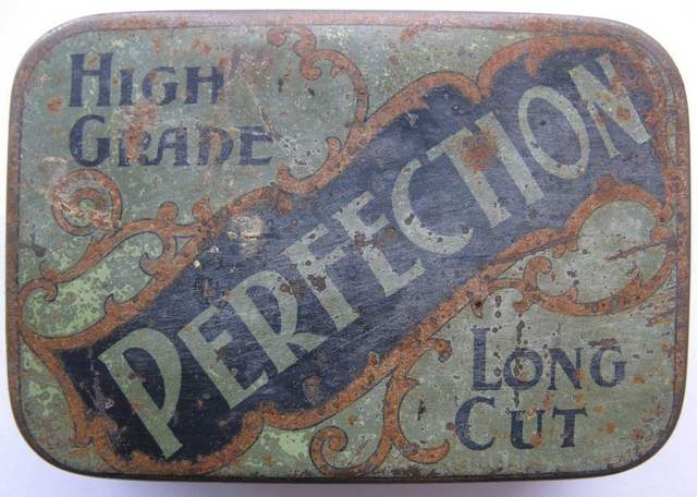 Perfection Long Cut 2oz Tobacco Tin