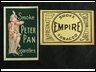 Matchbox advertising Peter Pan and Empire tobacco